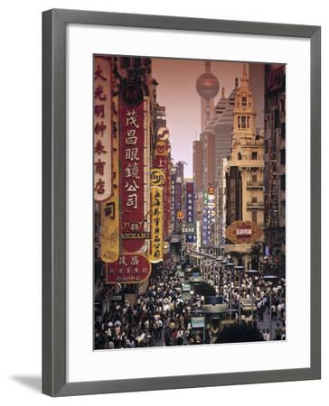 Nanjing Dong Lu, Shanghai, China-Walter Bibikow-Framed Photographic Print