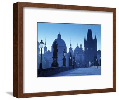 Charles Bridge, Prague, Czech Republic-Walter Bibikow-Framed Photographic Print