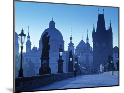 Charles Bridge, Prague, Czech Republic-Walter Bibikow-Mounted Photographic Print