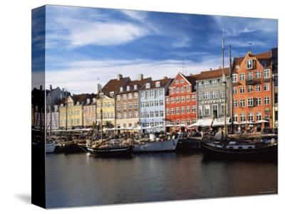Nyhavn Harbour, Copenhagen, Denmark-Jon Arnold-Stretched Canvas Print