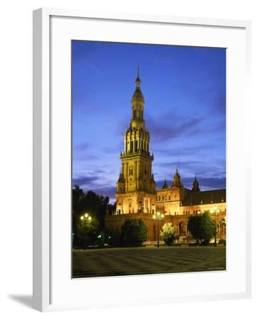 Plaza de Espana, Seville, Andalucia, Spain-Gavin Hellier-Framed Photographic Print