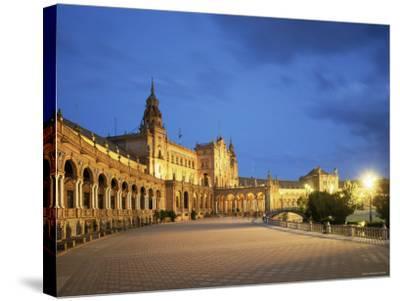 Plaza Espana, Seville, Andalucia, Spain-Jon Arnold-Stretched Canvas Print