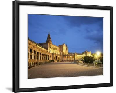 Plaza Espana, Seville, Andalucia, Spain-Jon Arnold-Framed Photographic Print
