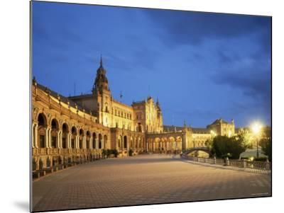 Plaza Espana, Seville, Andalucia, Spain-Jon Arnold-Mounted Photographic Print