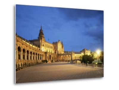Plaza Espana, Seville, Andalucia, Spain-Jon Arnold-Metal Print