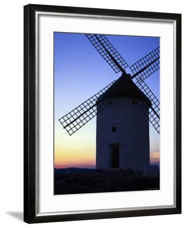 Windmill at Consuegra, Ruta de Don Quixote, Castilla La Mancha, Spain, Europe-Gavin Hellier-Framed Photographic Print