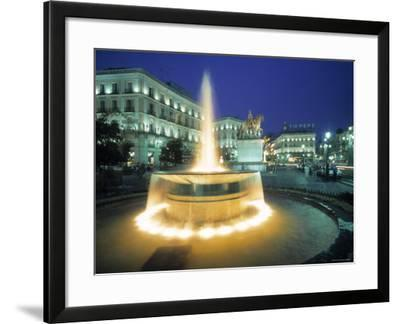 Puerta Del Sol, Madrid, Spain-Walter Bibikow-Framed Photographic Print