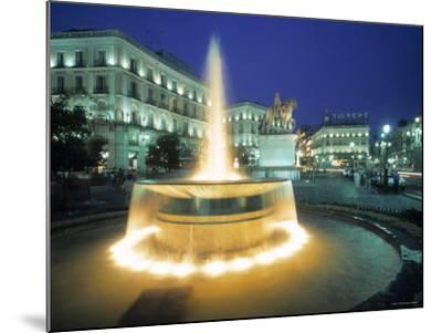 Puerta Del Sol, Madrid, Spain-Walter Bibikow-Mounted Photographic Print