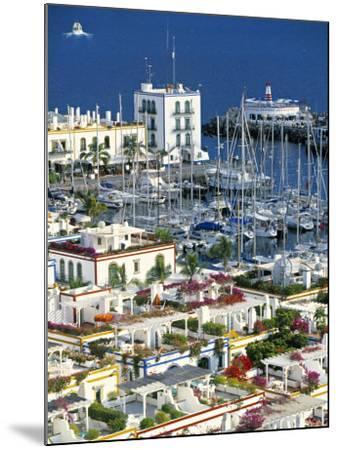 Puerto de Mogan, Gran Canaria, Canary Islands, Spain-Peter Adams-Mounted Photographic Print