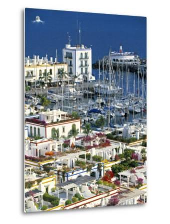 Puerto de Mogan, Gran Canaria, Canary Islands, Spain-Peter Adams-Metal Print