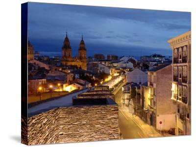 Roman Walls and Cathedral, Lugo, Galicia, Spain-Alan Copson-Stretched Canvas Print