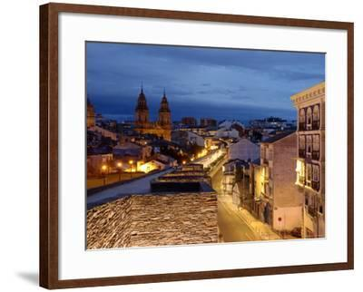 Roman Walls and Cathedral, Lugo, Galicia, Spain-Alan Copson-Framed Photographic Print