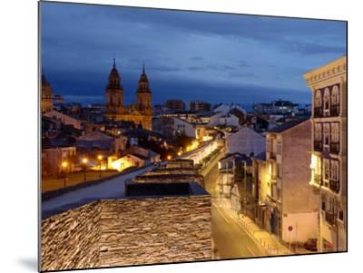 Roman Walls and Cathedral, Lugo, Galicia, Spain-Alan Copson-Mounted Photographic Print