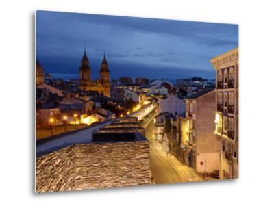 Roman Walls and Cathedral, Lugo, Galicia, Spain-Alan Copson-Metal Print