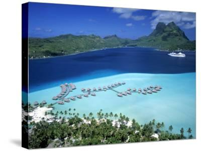 Pearl Beach Resort, Bora Bora, French Polynesia-Walter Bibikow-Stretched Canvas Print