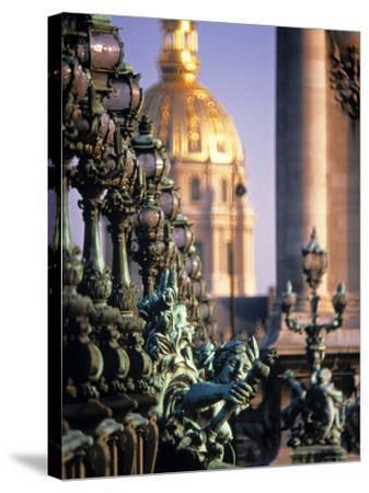Pont Alexandra III, Paris, France-Jon Arnold-Stretched Canvas Print