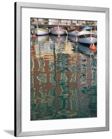 Relections, Nice Harbour, Cote d'Azur, France-Doug Pearson-Framed Photographic Print