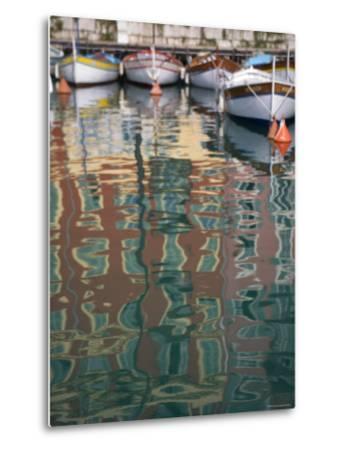 Relections, Nice Harbour, Cote d'Azur, France-Doug Pearson-Metal Print