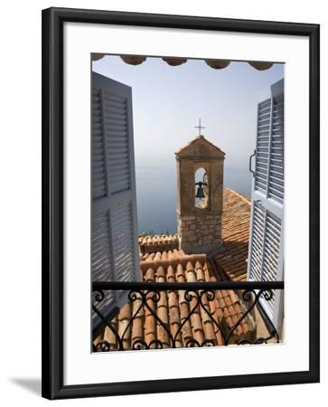 Church Bell Tower, Eze, French Riviera, Cote d'Azur, France-Doug Pearson-Framed Photographic Print