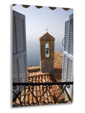Church Bell Tower, Eze, French Riviera, Cote d'Azur, France-Doug Pearson-Metal Print
