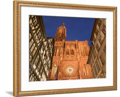 Cathedrale Notre Dame, Strasbourg, Alsace, France-Walter Bibikow-Framed Photographic Print