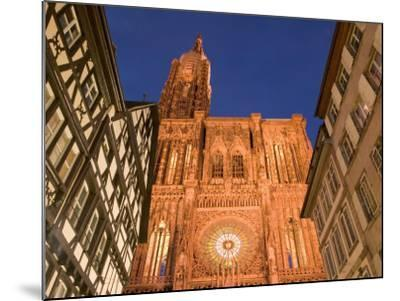 Cathedrale Notre Dame, Strasbourg, Alsace, France-Walter Bibikow-Mounted Photographic Print