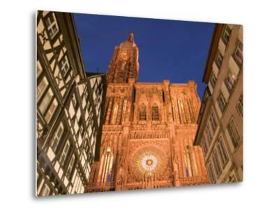 Cathedrale Notre Dame, Strasbourg, Alsace, France-Walter Bibikow-Metal Print