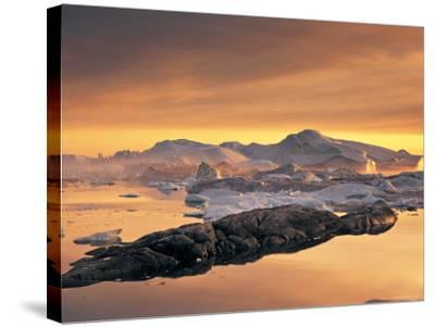 Disko Bay, Greenland-Peter Adams-Stretched Canvas Print