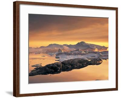 Disko Bay, Greenland-Peter Adams-Framed Photographic Print