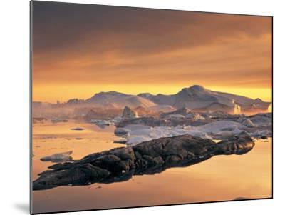 Disko Bay, Greenland-Peter Adams-Mounted Photographic Print
