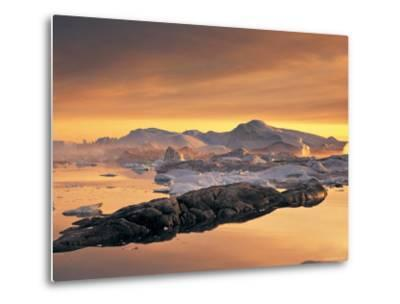 Disko Bay, Greenland-Peter Adams-Metal Print