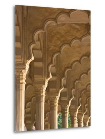 Hall of Public Audiences, Agra Fort, Agra, Uttar Pradesh, India-Walter Bibikow-Metal Print