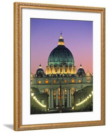 St. Peter's Basilica, Rome, Italy-Walter Bibikow-Framed Photographic Print