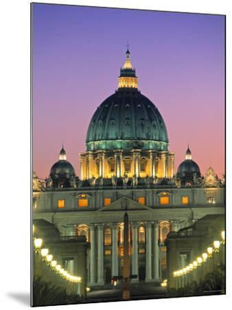 St. Peter's Basilica, Rome, Italy-Walter Bibikow-Mounted Photographic Print