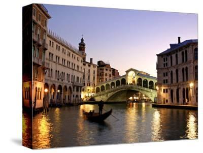 Rialto Bridge, Grand Canal, Venice, Italy-Alan Copson-Stretched Canvas Print