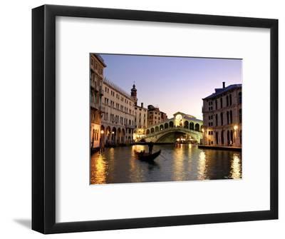 Rialto Bridge, Grand Canal, Venice, Italy-Alan Copson-Framed Photographic Print