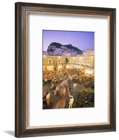 Piazzetta, Capri Town, Capri, Bay of Naples, Italy-Demetrio Carrasco-Framed Photographic Print