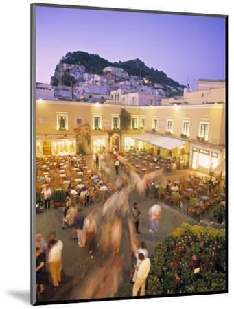 Piazzetta, Capri Town, Capri, Bay of Naples, Italy-Demetrio Carrasco-Mounted Photographic Print