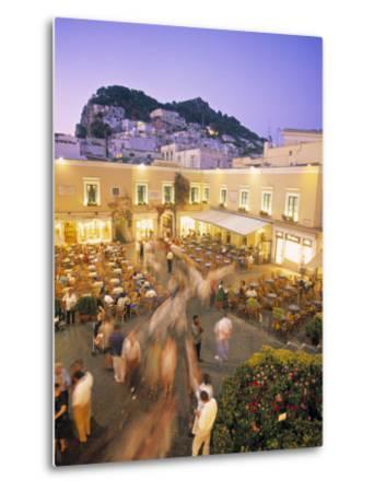 Piazzetta, Capri Town, Capri, Bay of Naples, Italy-Demetrio Carrasco-Metal Print