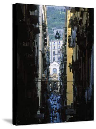 Narrow Streets of Naples, Italy-Demetrio Carrasco-Stretched Canvas Print