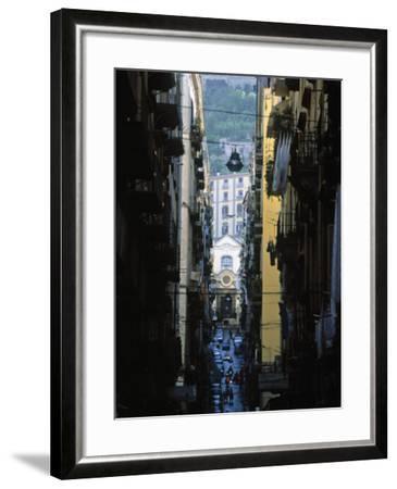 Narrow Streets of Naples, Italy-Demetrio Carrasco-Framed Photographic Print