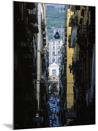 Narrow Streets of Naples, Italy-Demetrio Carrasco-Mounted Photographic Print
