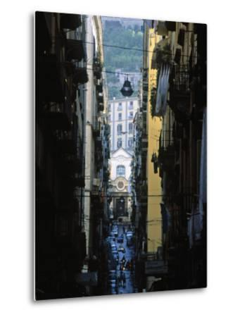 Narrow Streets of Naples, Italy-Demetrio Carrasco-Metal Print