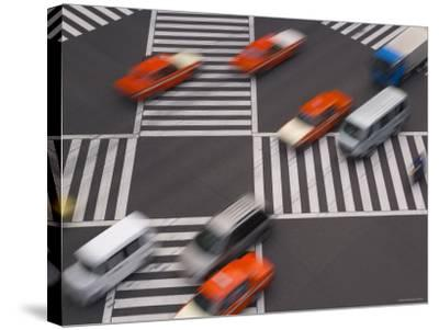 Sukiyabashi Pedestrian Crossing, Ginza, Tokyo, Japan-Gavin Hellier-Stretched Canvas Print