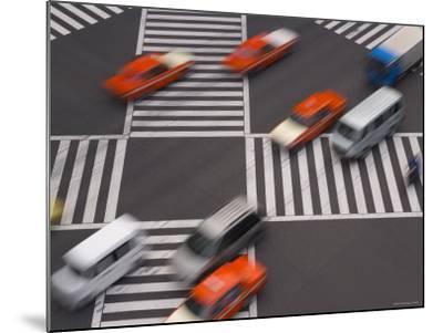 Sukiyabashi Pedestrian Crossing, Ginza, Tokyo, Japan-Gavin Hellier-Mounted Photographic Print
