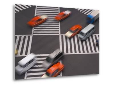 Sukiyabashi Pedestrian Crossing, Ginza, Tokyo, Japan-Gavin Hellier-Metal Print