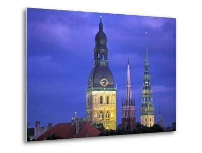 Dome Cathedral, St. Peter's and St. Saviour's Churches, Riga, Latvia-Peter Adams-Metal Print