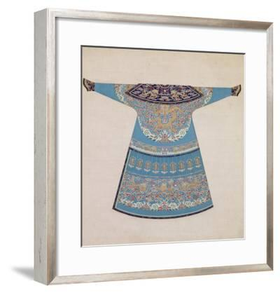 The Back of a Summer Court Robe Worn by the Emperor, China--Framed Giclee Print