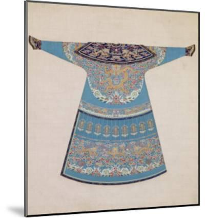 The Back of a Summer Court Robe Worn by the Emperor, China--Mounted Giclee Print