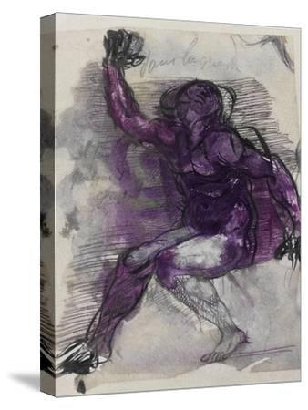 Le Dessins de Auguste Rodin: Plate No.55, 19th Century-Auguste Rodin-Stretched Canvas Print